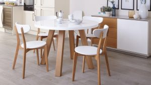 chair dining set senn oak and white dining chair