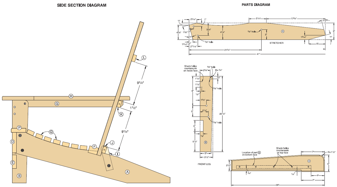 adirondack chair plans free folding adirondack chair diagram