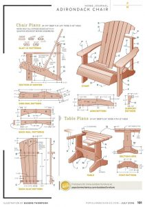 adirondack chair plans free popular mechanics chair w table