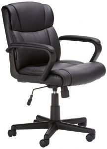 amazonbasics mid back office chair amazonbasics mid back leather office chair