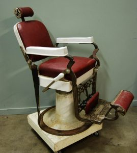 antique barber chair l