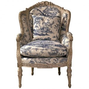 antique wingback chair x