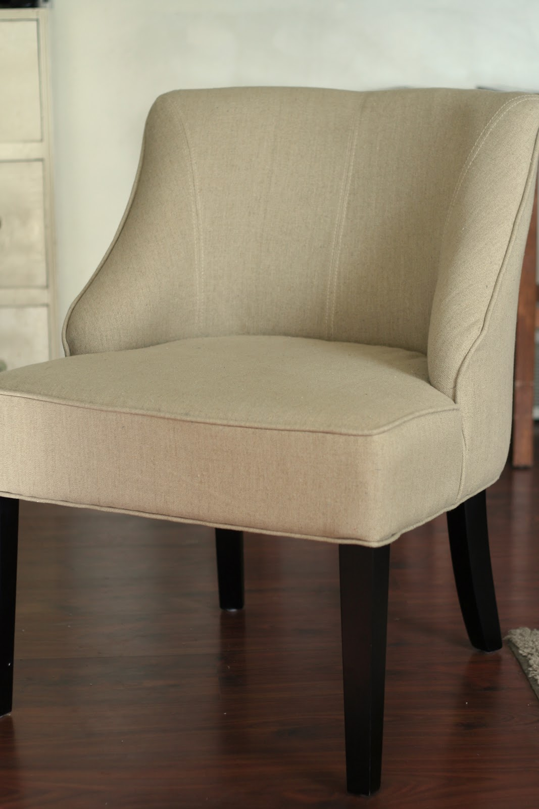 armless chair slipcover