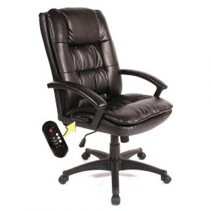 back massage chair comfort products high back leather massage executive chair