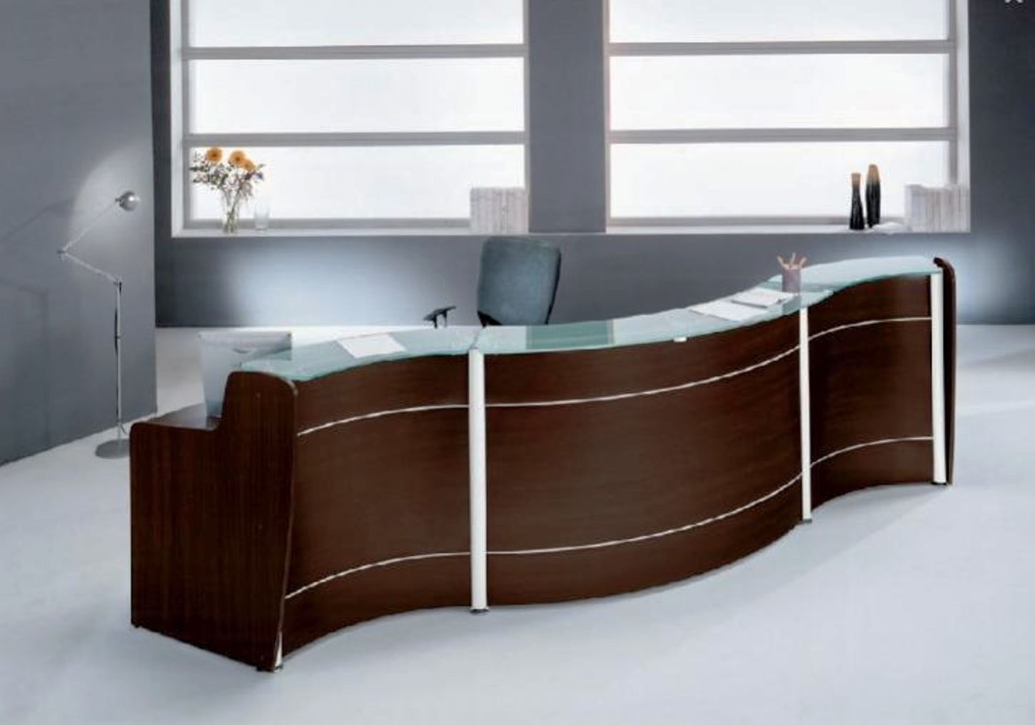 ball desk chair contemporary office reception furniture desk