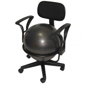 ball office chair aeromat black deluxe ergo ball chair