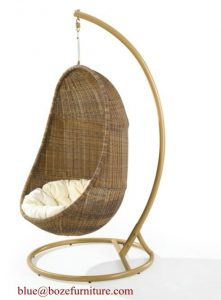 basket swing chair outdoor rattan furniture hammock wicker swing chair bz w