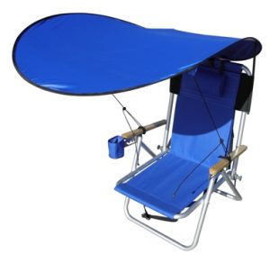 beach chair with umbrella attached backpack chair shade blue