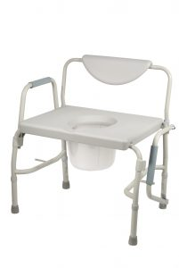 bedside commode chair bariatric drop arm bedside commode chair
