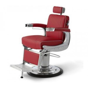 belmont barber chair red x