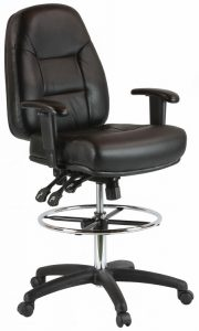 best drafting chair harwick ergonomic premium leather drafting chair kl