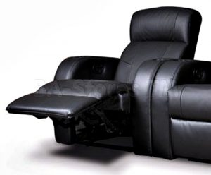 black leather recliner chair coa