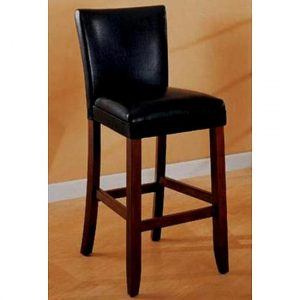 black parsons chair empire black bicast leather bar stools set of l