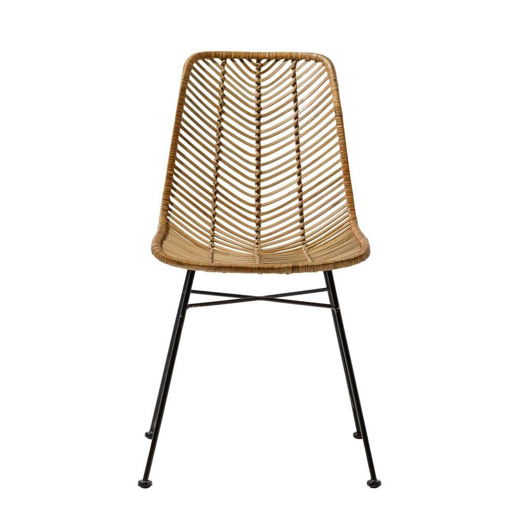 black rattan chair