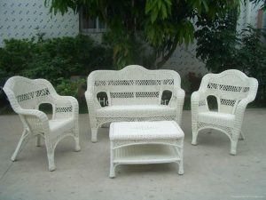 black rattan chair hw pieces outdoor leisure rattan furniture set