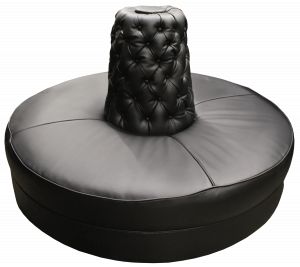 black tufted chair black round sofa cone