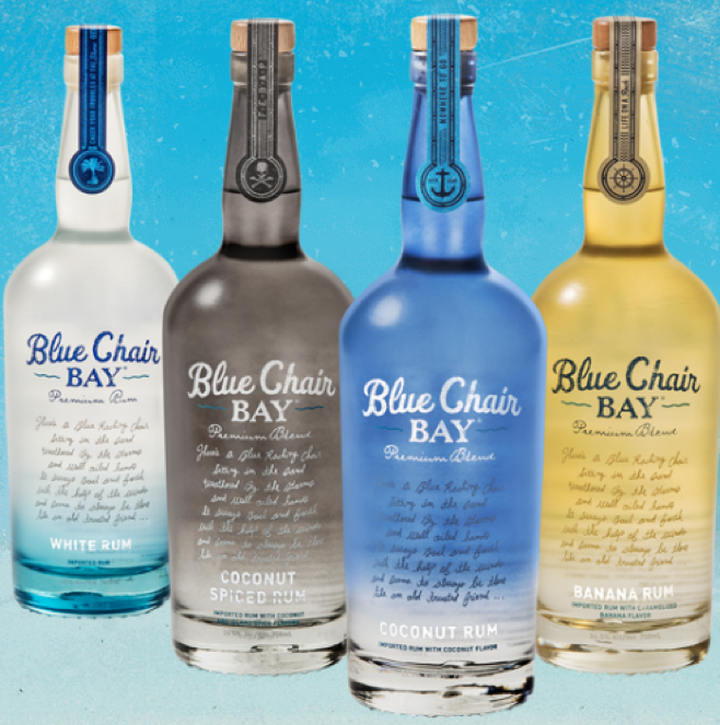 blue chair bay coconut rum screen shot at am