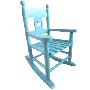blue rocking chair p rcb side