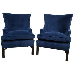 blue velvet chair z