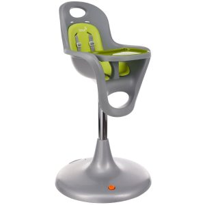 boon high chair boon flair pedestal highchair grey green