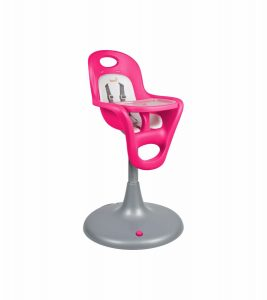 boon high chair boon flair pedestal highchair with pneumatic lift pink