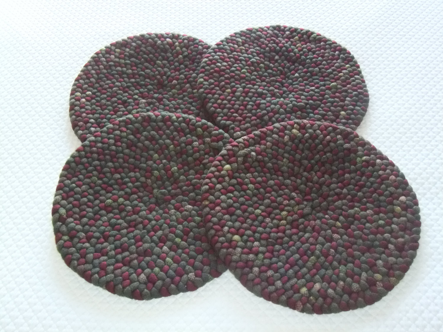 braided chair pads