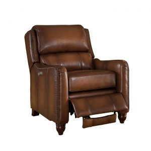 brown leather recliner chair concord traditional top grain brown leather powered reclining chair