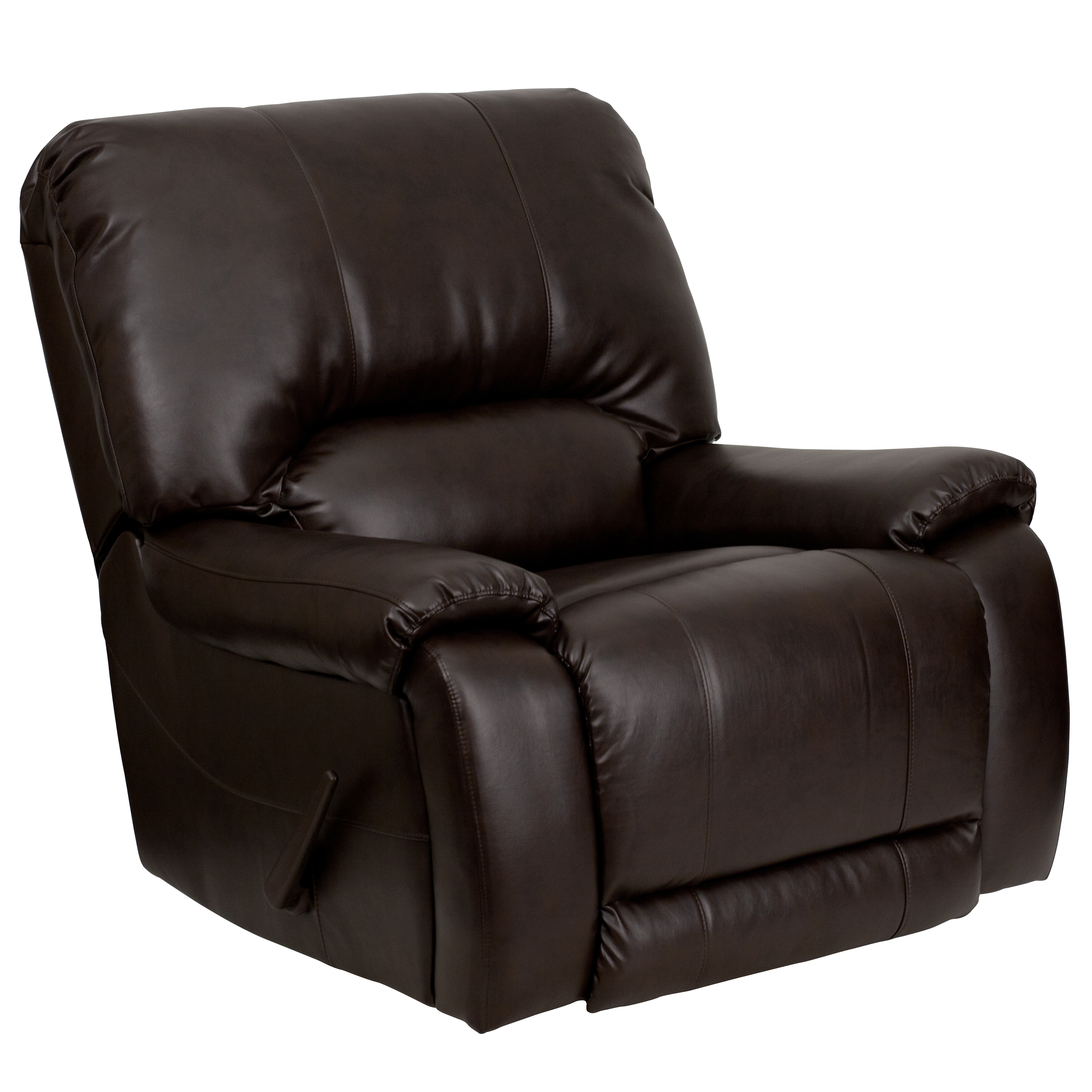 brown leather recliner chair men dsc brn gg overstuffed brown leather