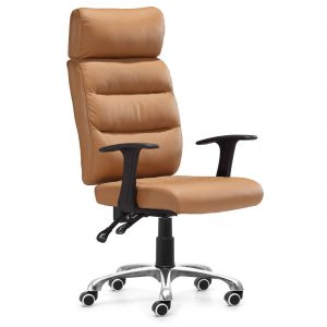 brown office chair high back brown leather office chair