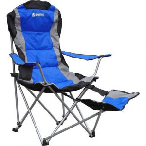 camping chair with footrest x