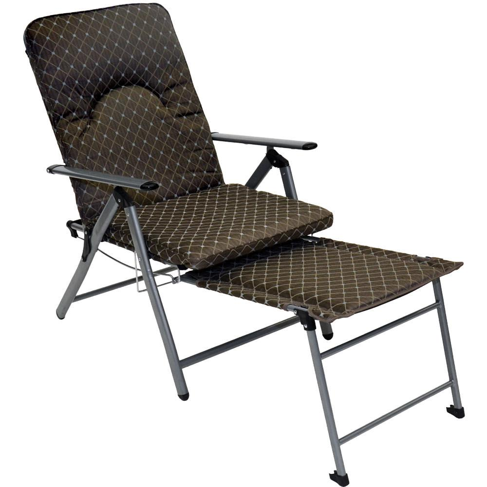 camping chair with footrest n