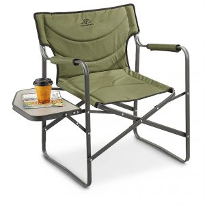 camping chair with side table ts