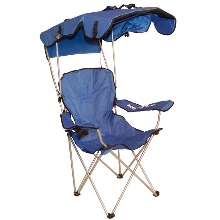 canopied beach chair