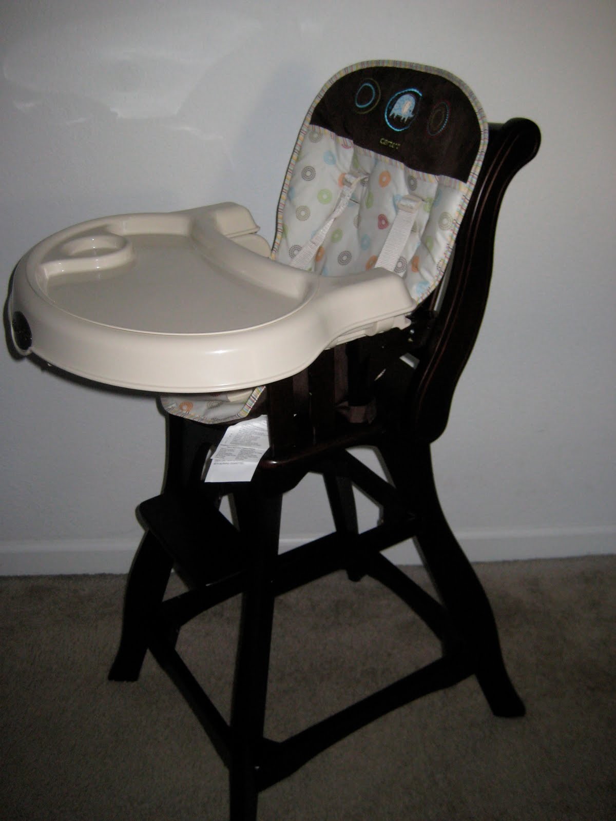 carter wooden high chair