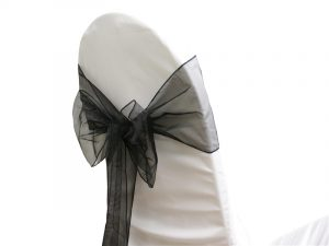 chair covers and sash aa sash orgz blk