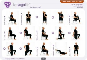 chair exercises for elderly chair yoga level class