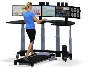 chair for standing desk stand up desk with treadmill and person