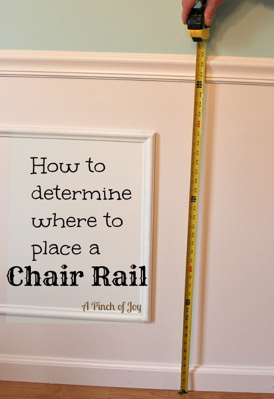 chair rail height chair rail
