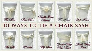 chair sash for wedding tie a sash on a chair
