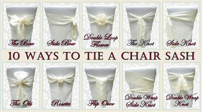 chair sash for wedding