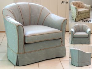 chair slip cover barrel chair slipcovers before and after