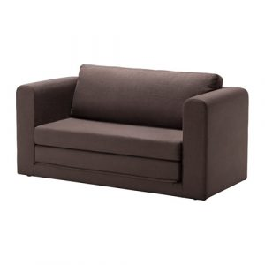 chair sofa beds askeby two seat sofa bed tullinge grey brown pe s