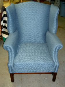 chair upholstery fabric wing chair reupholstery