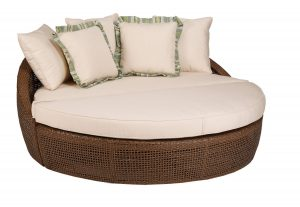 chaise lounge chair outdoor oversized round outdoor wicker chaise lounge chair with pillows and comfy pad