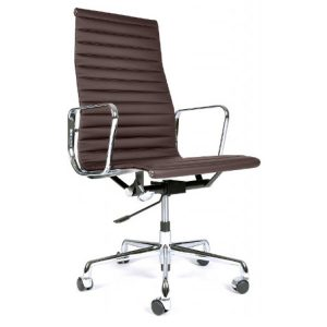 charles and ray eames chair eames ea leer bruin