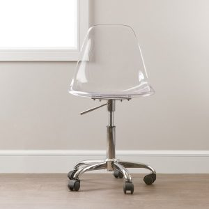 clear desk chair south shore clear clear acrylic office chair with wheels aa d e e ccbdacf