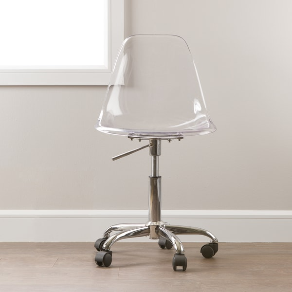 clear desk chair