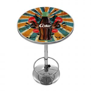 coca cola table and chair trademark global coca cola brazil pub table coke bz