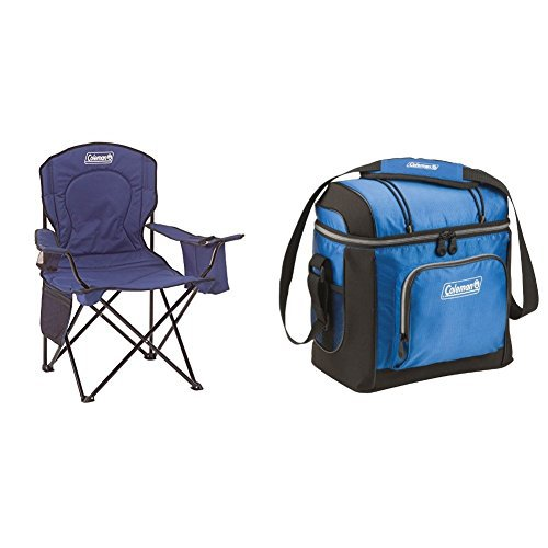 coleman oversized quad chair with cooler coleman oversized quad chair with cooler w coleman can cooler