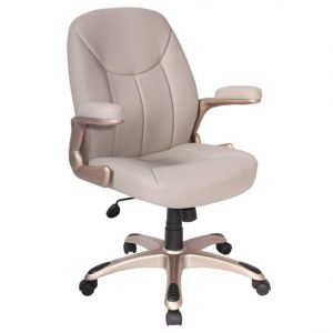 comfy desk chair beige leather adjustable height swivel office desk chair with padded arms x